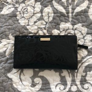 Kate Spade New York Black and Gold Wallet